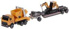 Камион и багер - Комплект метални играчки - детски аксесоар